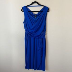 Adrianna Papell Royal Blue Classic Cocktail Dress